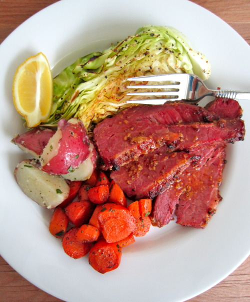 Corned Beef Brisket roasted full plate